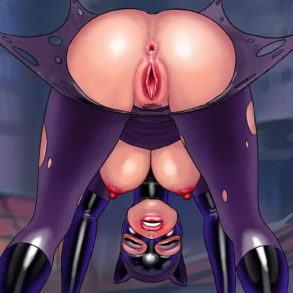 Catwoman Shows Pussy and Ass