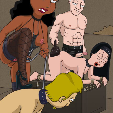 Hayley Smith and Linda Memari in a Foursome BDSM Orgy