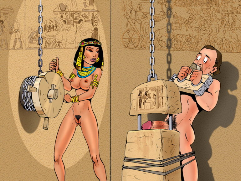 Sexy cartoon sex slave prostitute girl