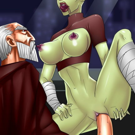 Asajj Ventress Rides an Old Cock
