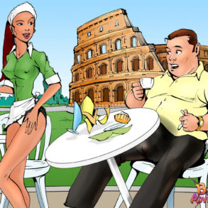 Italian Waitress Seducing Bruce Bond