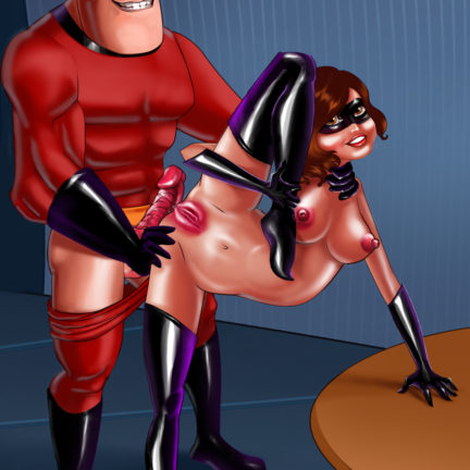 Naked Elastigirl's Tight Holes Hard Pumped