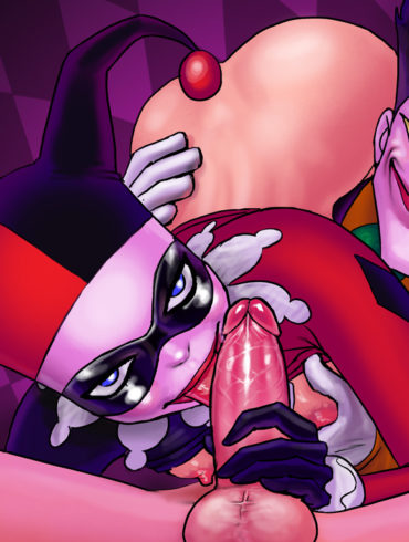 Harley Quinn's Sloppy Deepthroat Blowjob