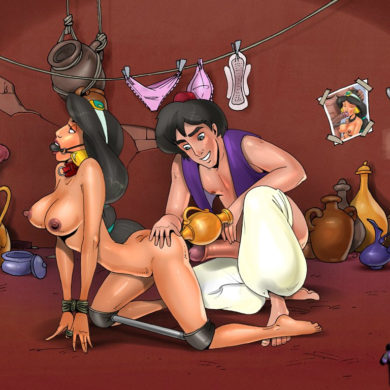 Busty Jasmine Humiliated by Aladdin