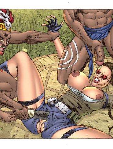 Lara Croft's Interracial Action