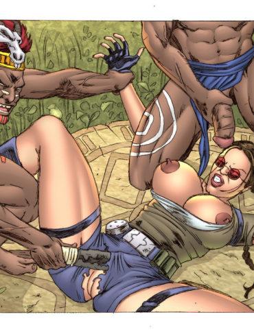 Lara Croft's Interracial Action