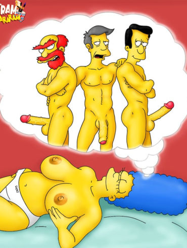 Topless Marge Simpson Dreams of Dicks