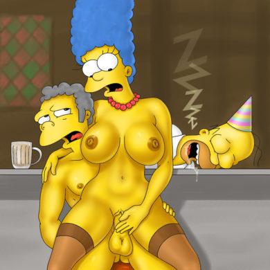 Marge Cucks Homer with Moe