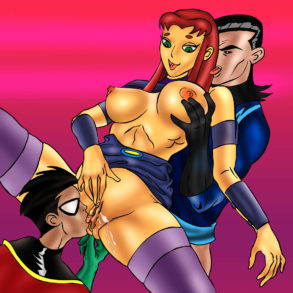 MMF Threesome with Starfire