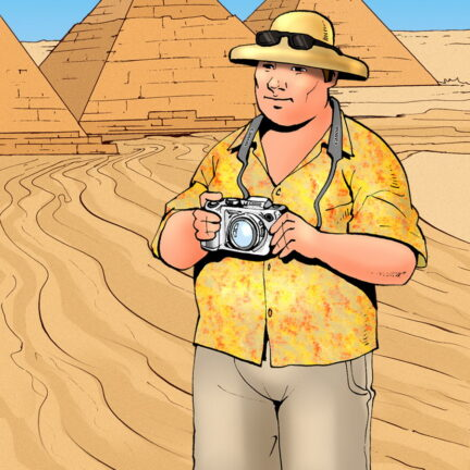 Bruce Bond Looks Away from the Pyramids