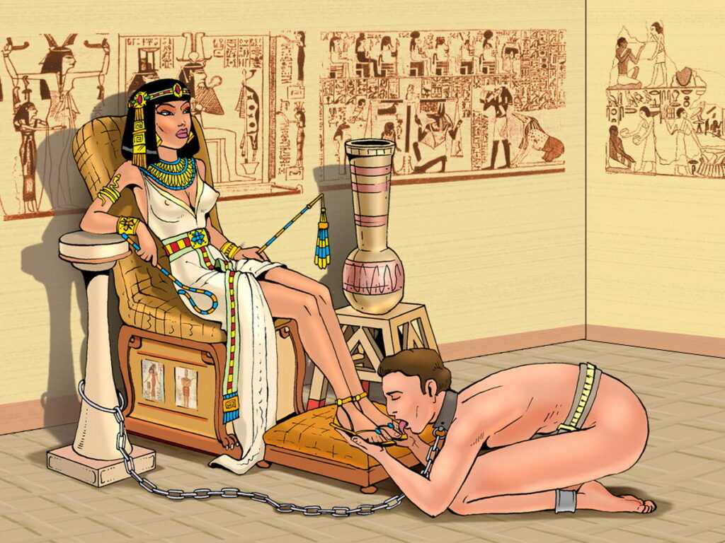 Foot Worship for His Egyptian Goddess