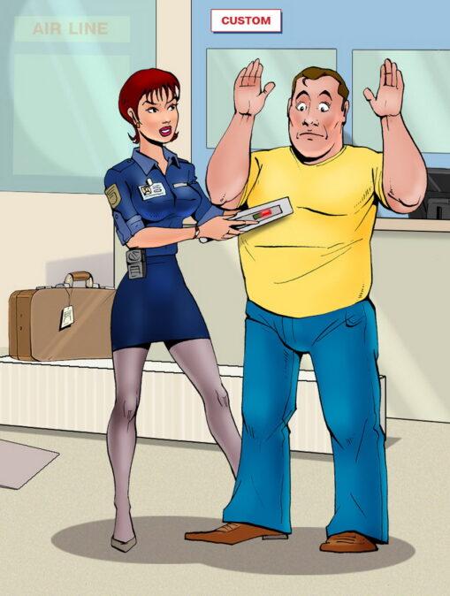 Bruce Stopped by a Sexy TSA Dominatrix