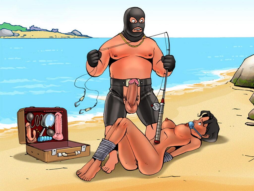 Tied Slave Struggles with Her Gag