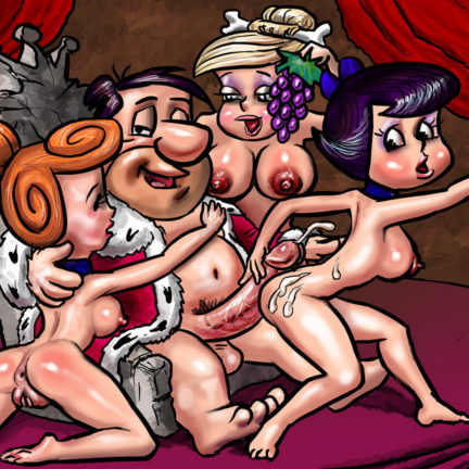 Betty Rubble in Crazy Group XXX